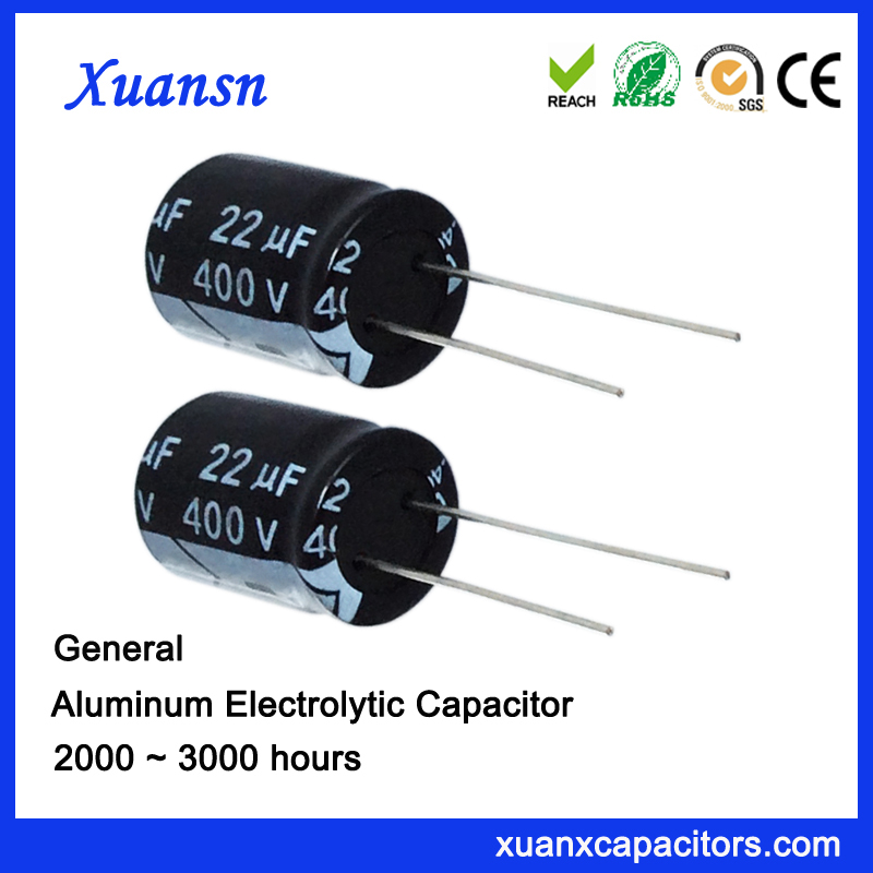 22uf 400v Radial Electrolytic Capacitor For Adapter