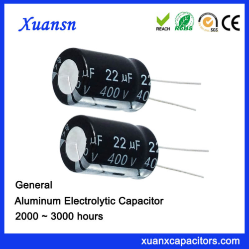 22uf 400v High Voltage General Aluminum Capacitor