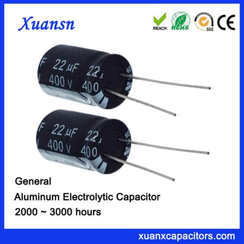 22uf 400v High Voltage General Aluminum Capacitor