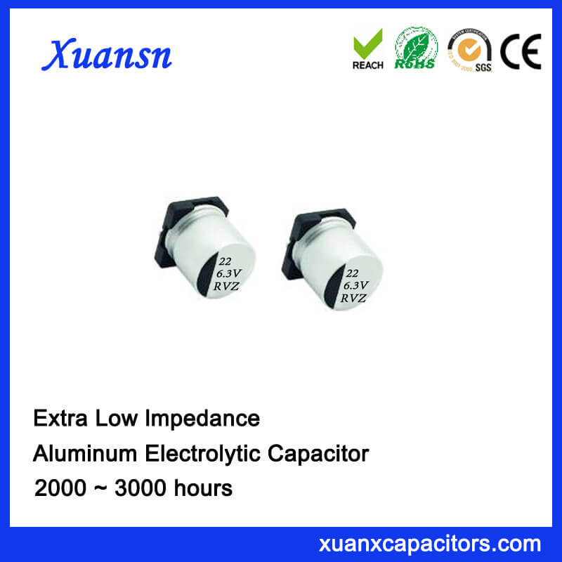 22uf 6.3v Ultra Low Impedance Electrolytic SMD Capacitors