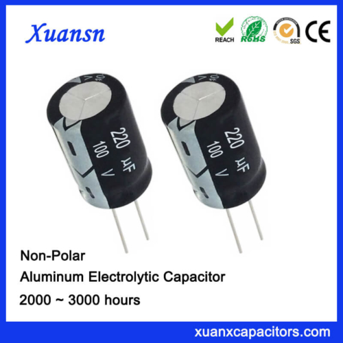 Non Polarised 220UF 100V Electrolytic Capacitor