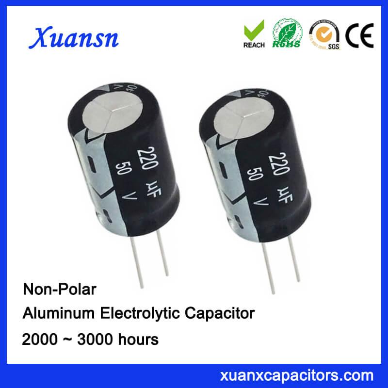 220uf 50v Non Polarised Electrolytic Capacitor