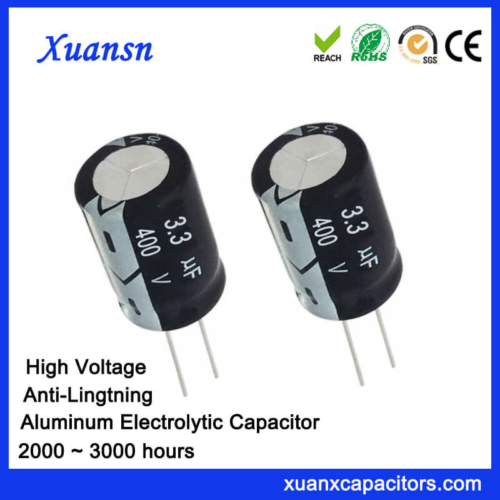 Anti-Lightning 3.3uf 400v Electrolytic Capacitor