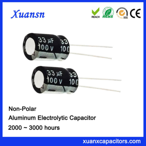 100V Non Polarised 33UF Electrolytic Capacitor