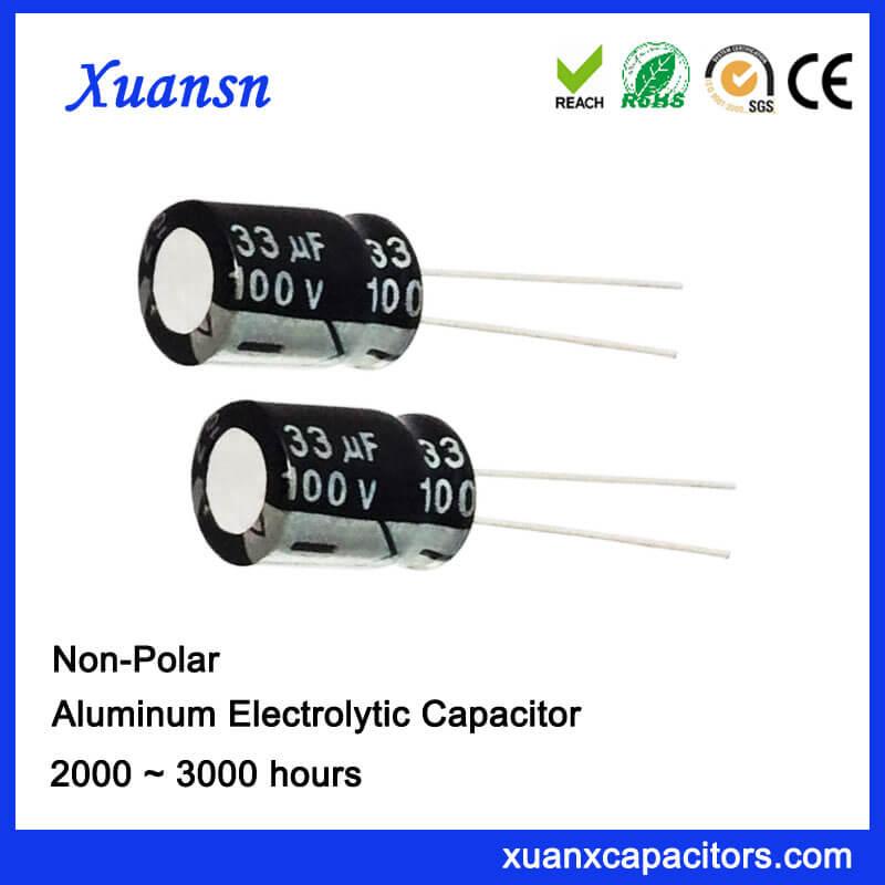 100V Non Polarised 33UF Electrolytic Capacitor