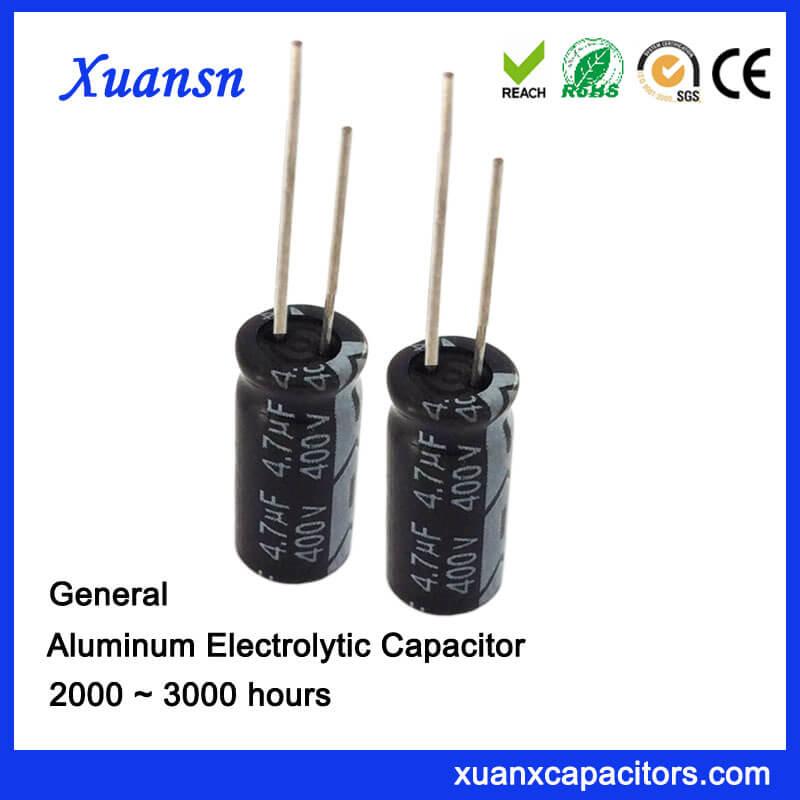 4.7uf 400v Aluminum Electrolytic Capacitor