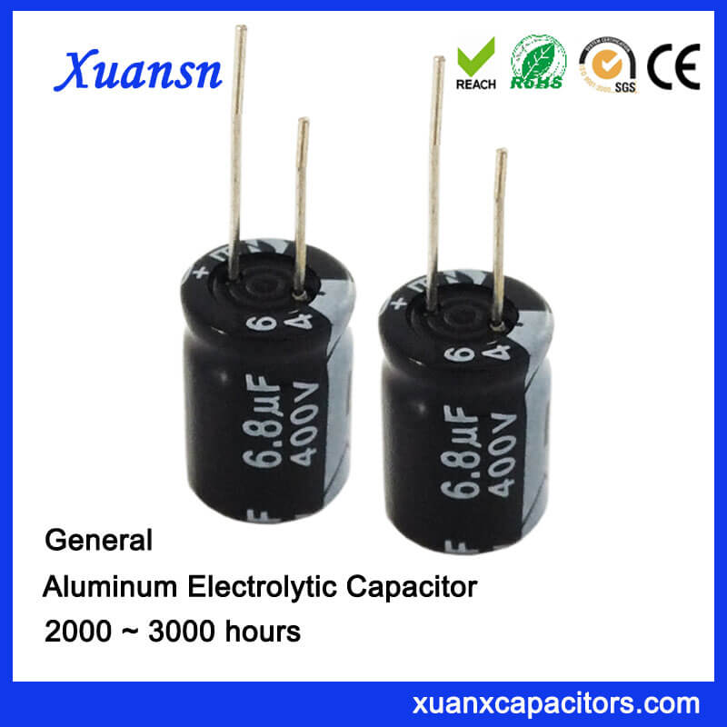 6.8uf 400v Electrolytic Capacitor Manufacturers