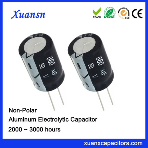 Non Polarised 680UF 50V Electrolytic Capacitor