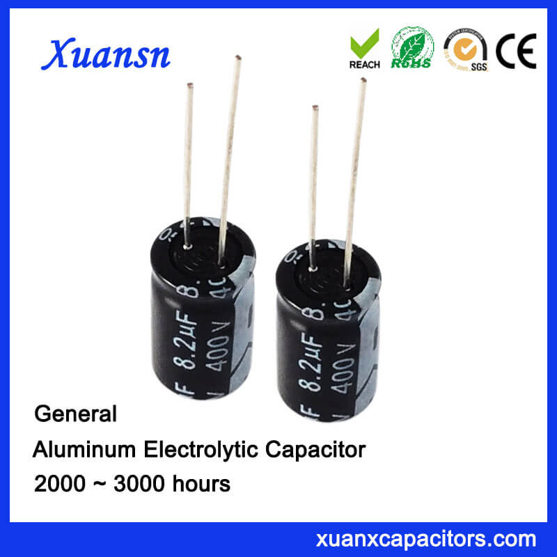 8.2uf 400v Aluminum Electrolytic Capacitor Sales