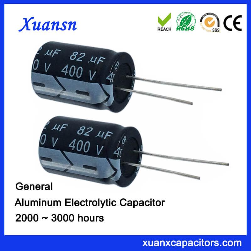 82uf 400v Aluminum Electrolytic Radial Capacitor