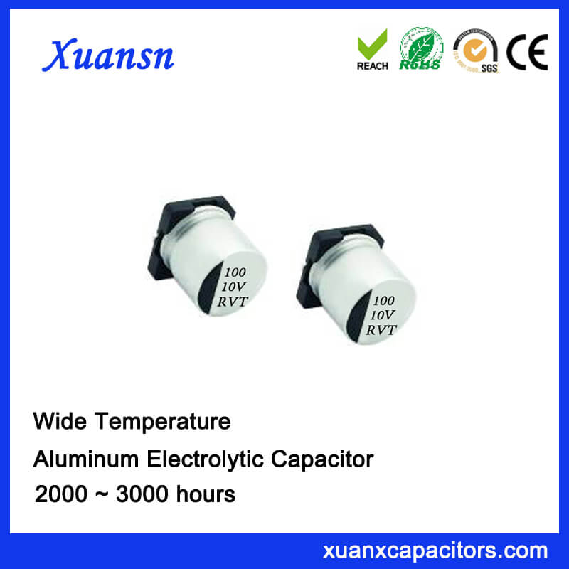 High Quality 100UF 10V SMD Standard Electrolytic Capacitor