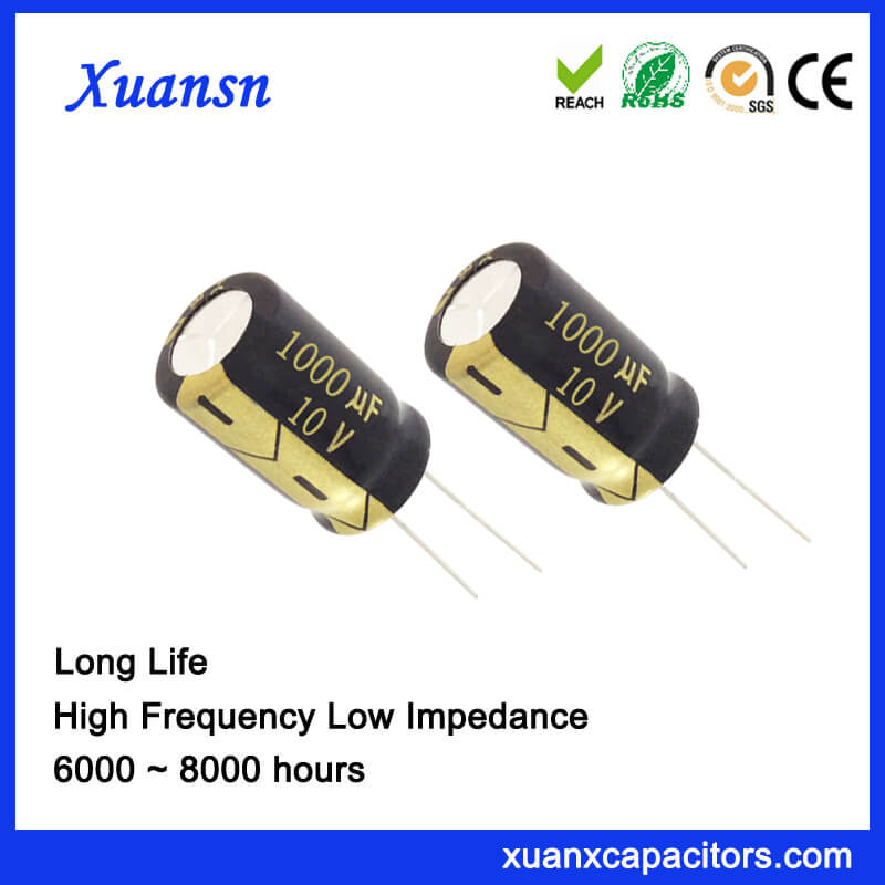 New Peoduct 1000uf 10v Electrolytic Capacitors Low Voltage