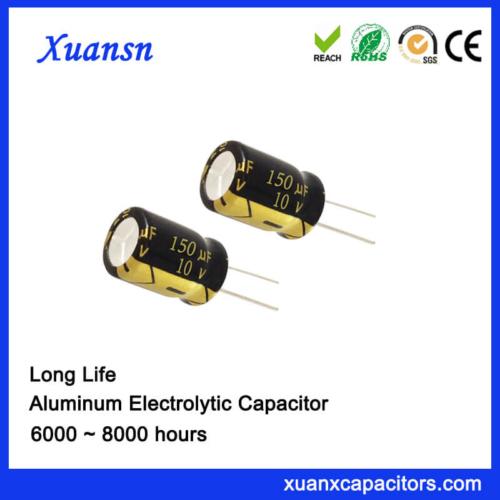 8000Hours 105C 150UF 10V Radial Aluminum Capacitor