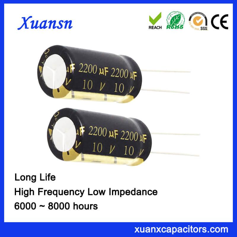 2200UF 10V Capacitor 105c High Temp Long Life