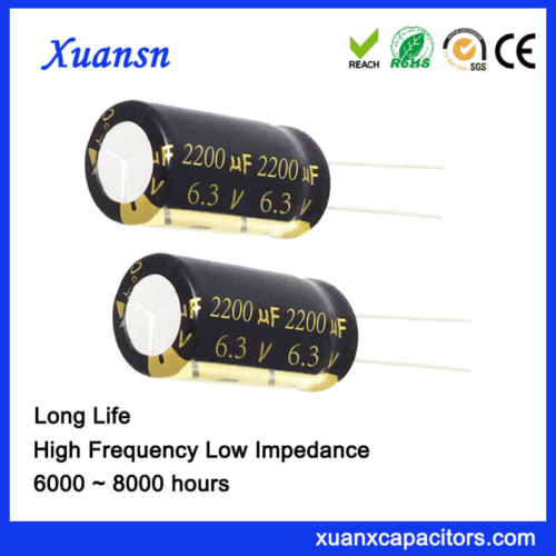 2200UF 6.3V Aluminum Electrolytic Capacitor 8000Hours