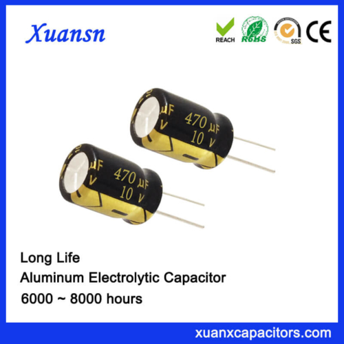 Xuansn Factory 470UF 10V Electrolytic Capacitor Long Life