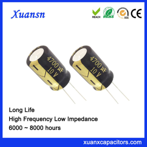 Through Hole Radial 4700UF 10V Capacitor Electrolytic 8000Hours