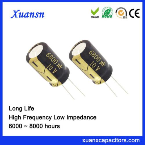 Xuansn Factory 6800UF 10V Aluminum Electrolytic Capacitor