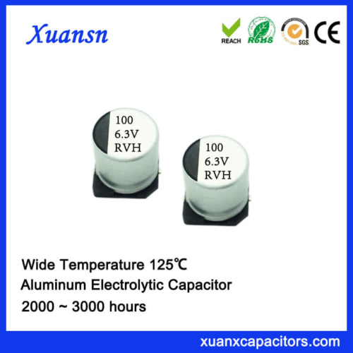 100UF 6.3V 125℃ SMD High Temperature Electrolytic Capacitor