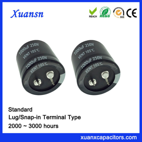 Standard Snap In 1000UF 250V Capacitor Supplier