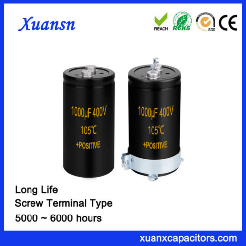 HIgh Voltage Long Life Screw Capacitor 1000UF 400V