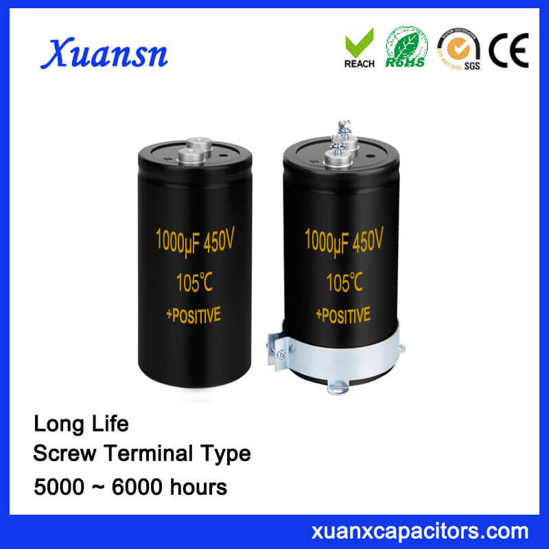 1000UF 450V Capacitor Screw Terminal Type Long Life