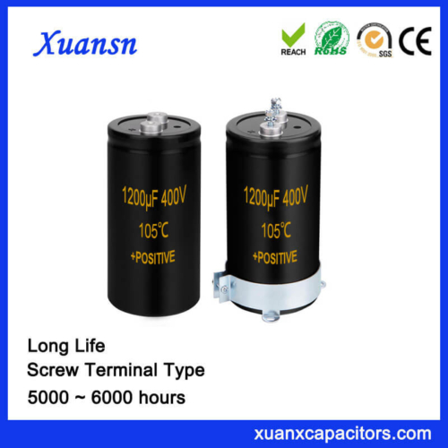 Long Life Super Screw Terminal Capacitor 1200UF 400V