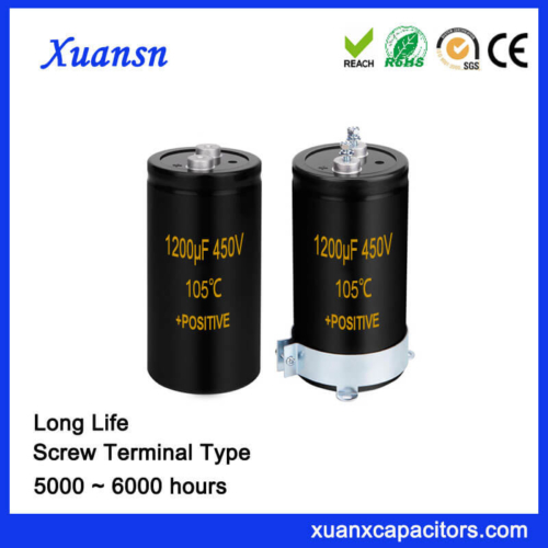 450V 1200UF Screw Terminal Aluminum Capacitor