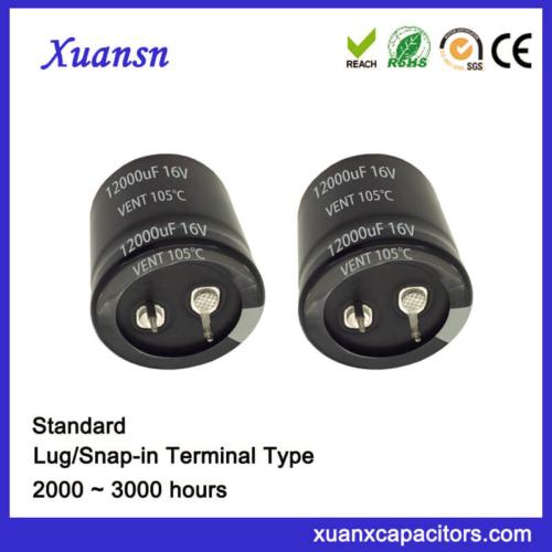 12000UF 16V Standard Horn Electrolytic Capacitor