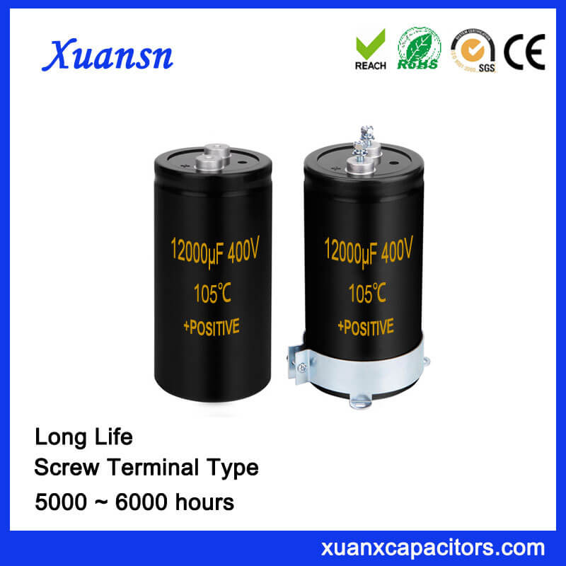 12000UF 400V High Voltage Screw Type Capacitor Long Life