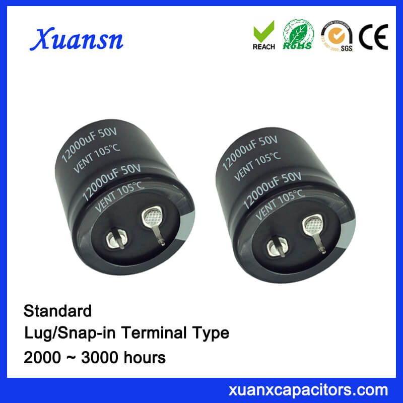 12000UF 50V 3000Hours Standard Snap In Capacitor