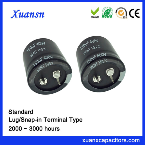 Good Quality Standard Snap In 150UF 400V Capacitor
