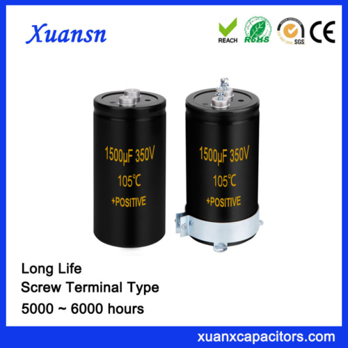 1500UF 350V Screw Terminal Electrolytic Capacitor 105℃