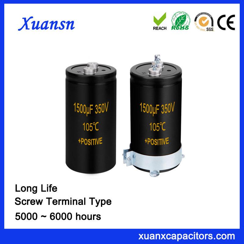 1500UF 350V Screw Terminal Electrolytic Capacitor 105℃