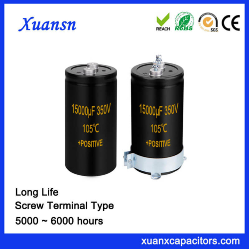 Power Supply Capacitor Screw Terminal 15000UF 350V