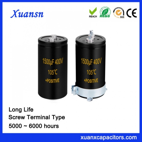 Screw Capacitor 1500UF 400V Long Life