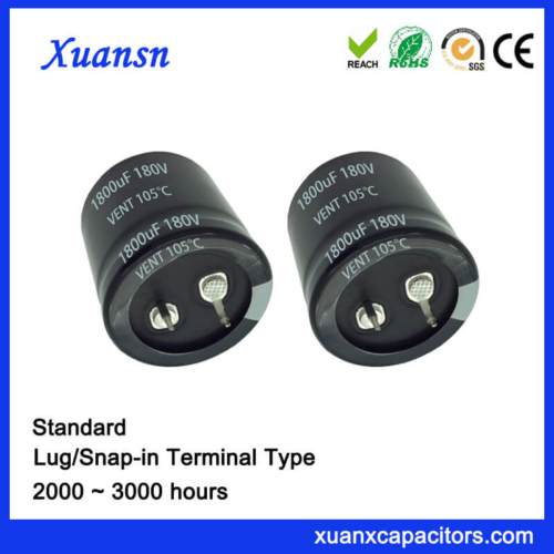 1800UF 180V 105℃ 2000Hours Snap In Capacitor