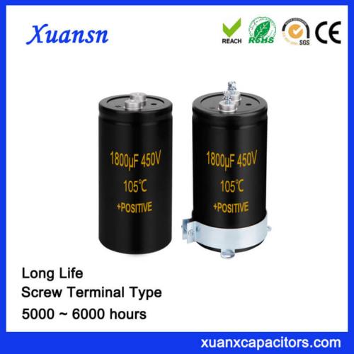 Wholesale 1800UF 450V Screw Aluminum Capacitor Long Life