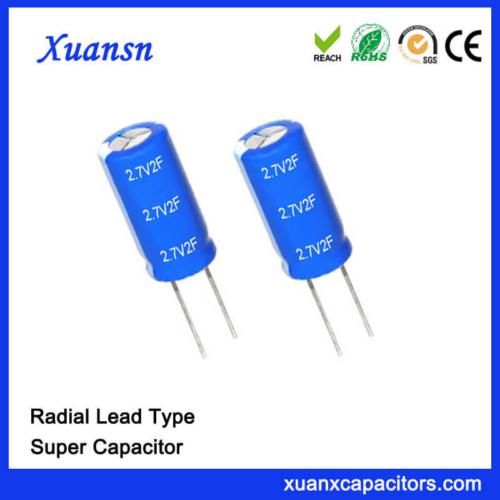 Lead Type Super Farad Capacitor 2.7V 1F Capacitor