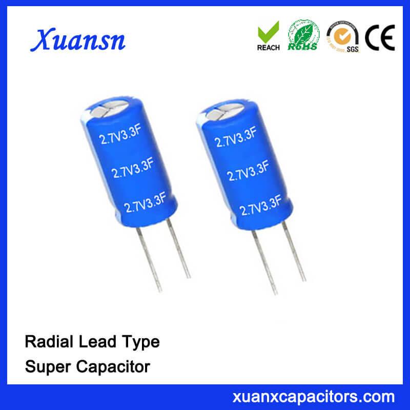 Good Quality Super Farad Capacitor 3.3F 2.7 V Capacitor