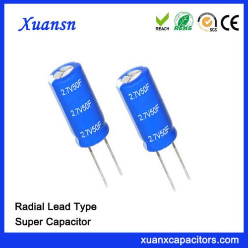 2.7V Farad Super Capacitor 50F Capacitor