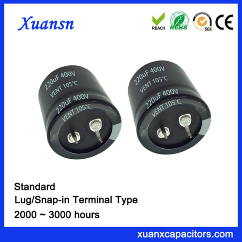 Standard Snap In 220UF 400V Capacitor China Supoplier