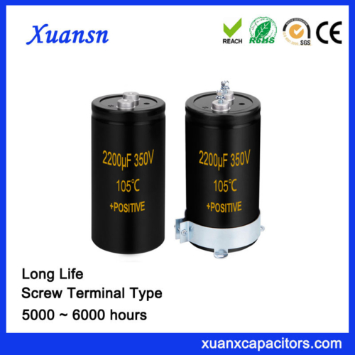 2200UF 350V Motor Capacitor Screw Terminal Type
