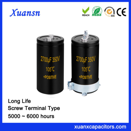 Xuansn Directly Screw Terminal Big Capacitor 2700UF 350V