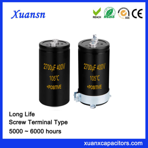 Electric Capacitor Screw Terminal Type 2700UF 400V