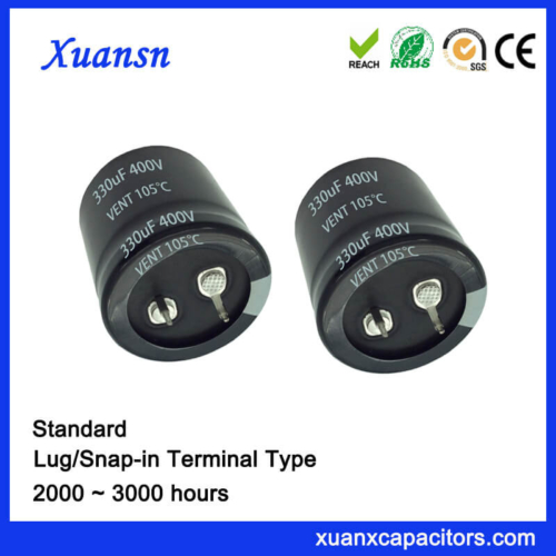 High Voltage Standard Snap In 330UF 400V Capacitor