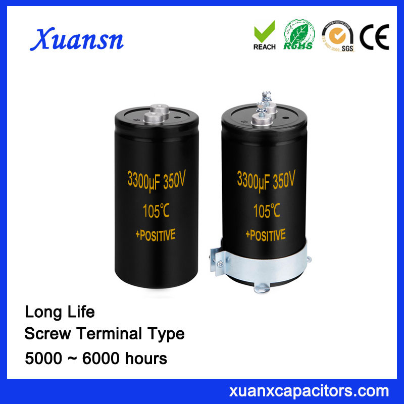 Factory Directly Super Capacitor Screw Terminal 3300UF 350V