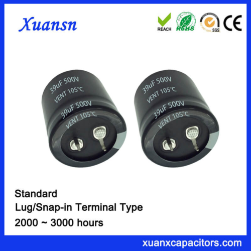 China 390UF 500V Standard 3000Hours Snap In Capacitor