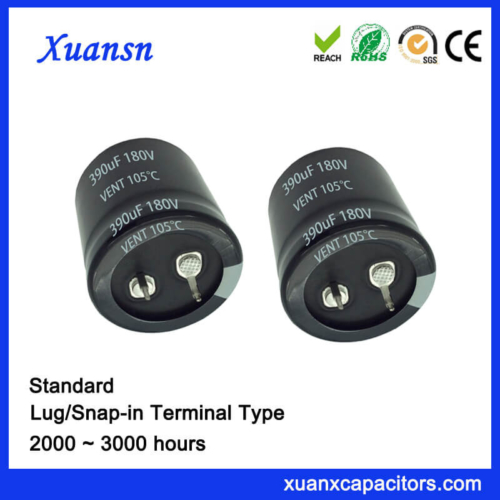 Xuansn Factory Snap In 180V 390UF Capacitor Electrolytic