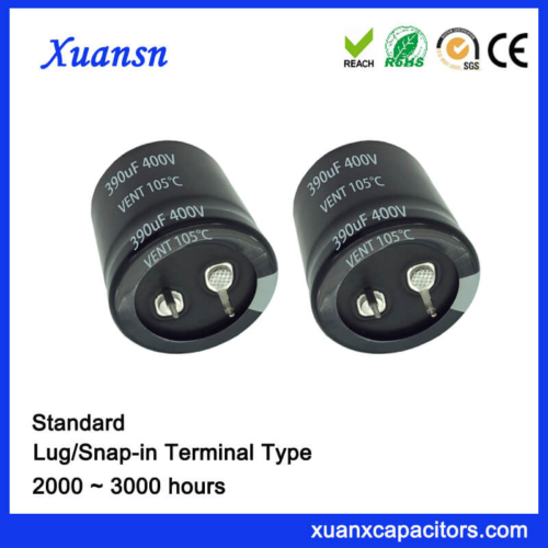 Through Hole Snap In Electrolytic Capacitor 400V 390UF